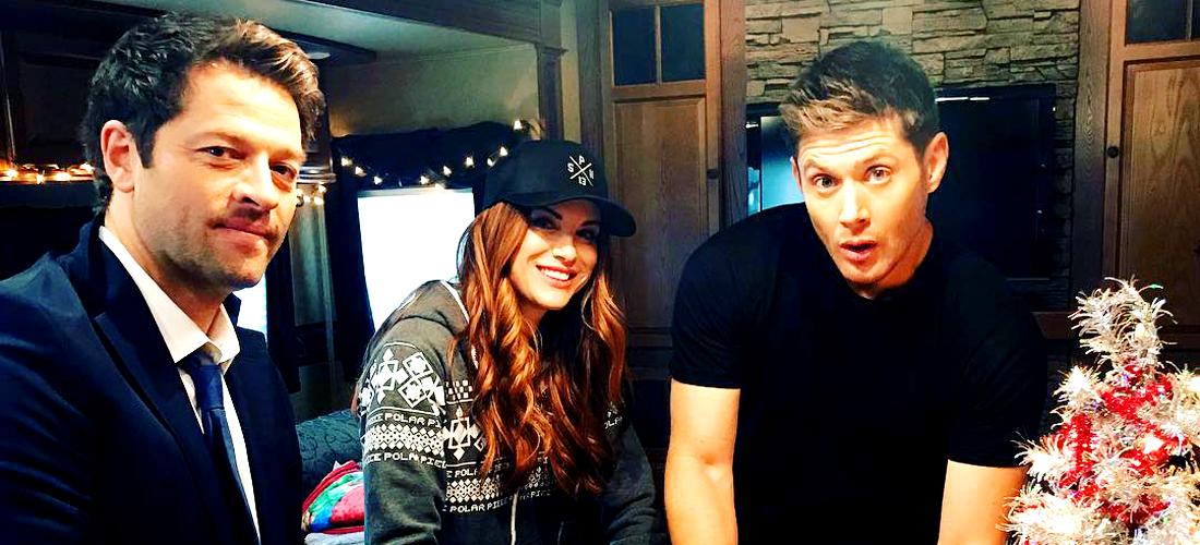 Danneel, Jensen and Misha Gift Wrap for Christmas