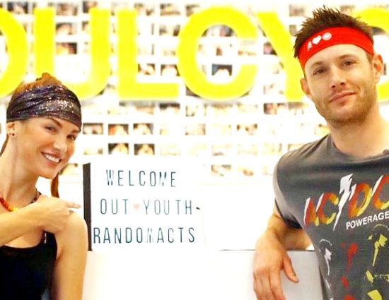 Danneel and Jensen Host Soul Cycle For Charity